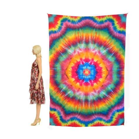 tapestry tie dye wall home decor large sized rainbow