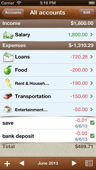 alzex finance iphone app review home accounting wizardry