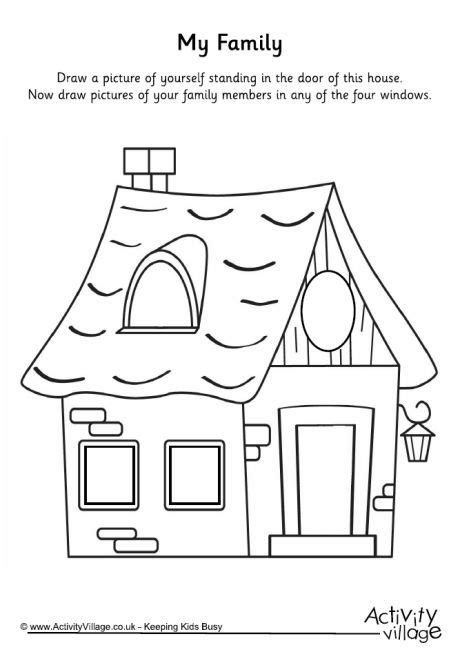 best photos of preschool house template my family in my family house printable