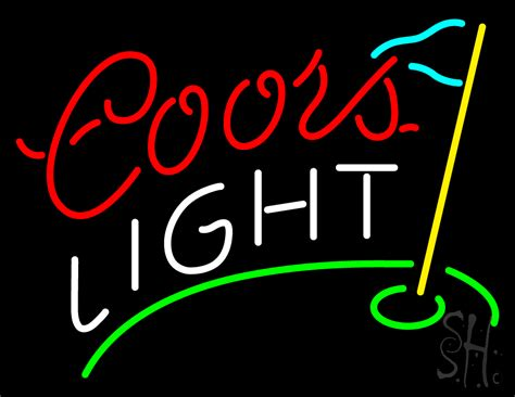 coors light beer sign coors light golf neon sign beer neon signs every thing