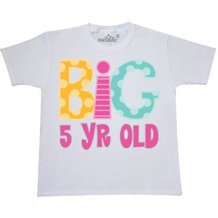 T Shirt Bb 1 Years Product inktastic 5th birthday big 5 year youth t shirt years