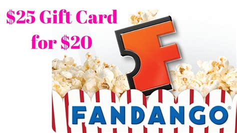 Fandango E Gift Card - amazon 25 fandango egift card for 20 mylitter one deal at a time