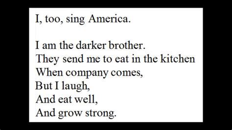 I Sing America Analysis Essay by Quot I Quot Recited By Langston Hughes Quot I Sing America Quot Walt Whitman Quot I Hear America Singing
