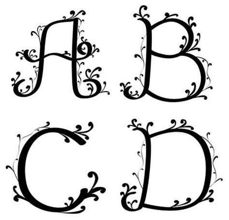 tattoo fonts vines alphabet styles lettering tattoo lettering and various