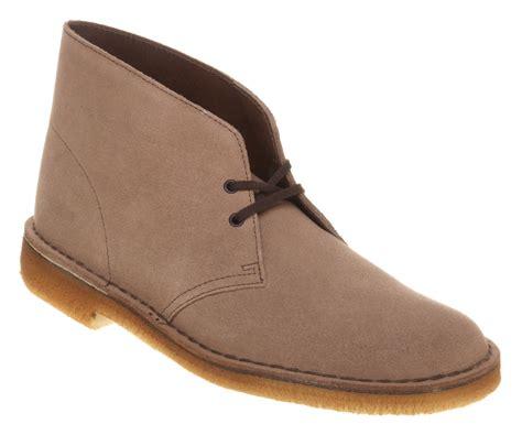mens clarks desert boot wolf suede boots ebay