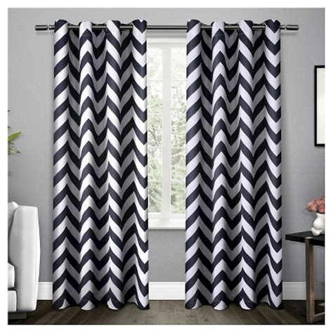 chevron curtains target set of 2 mars chevron woven blackout thermal curtain