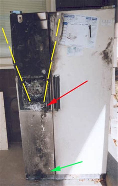 v shaped pattern in c heat related damage pattern analysis