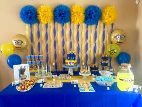 Minions Party Decorations Alex S 5th Minion Birthday Party My Funnest Setup Yet