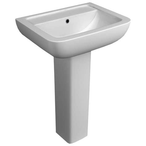 bathroom sink options options 600 modern ceramic square basin and pedestal 2 tap