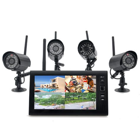 securial wireless home security dvr system 300m