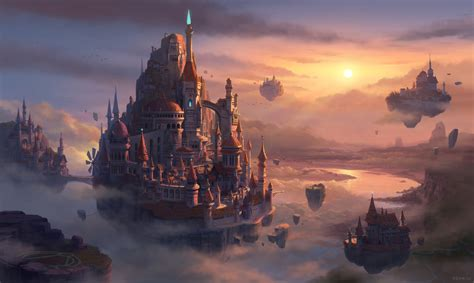 Castle In The Sky artstation castle in the sky memesu