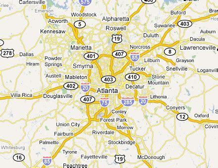 map of atlanta area atlanta metro area web design development firms on the
