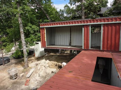 reused sea container house construction21