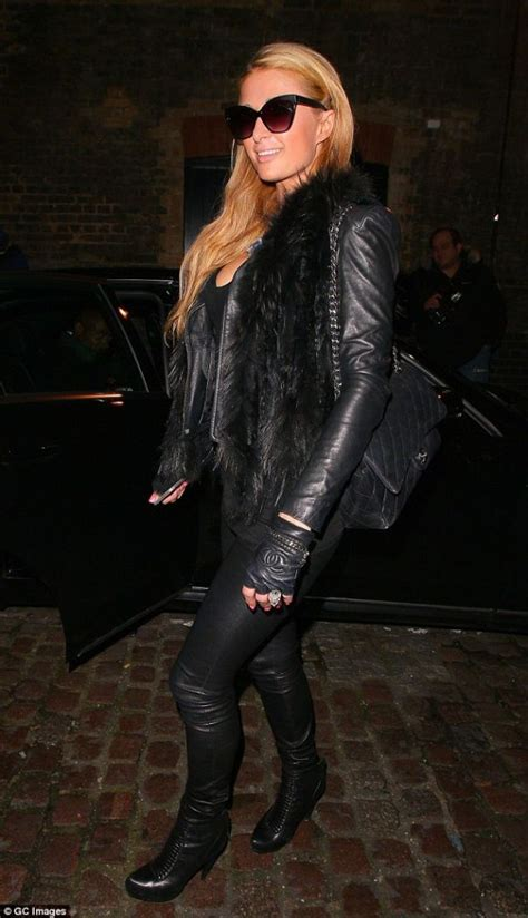Paris Hilton Magnifies Her Cleavage as She Parties with