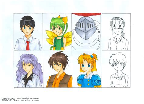 Flash Project Characters By Moonlightcrystal89 On Deviantart Flash Artist Project