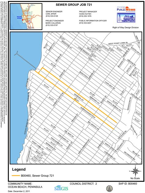 san jose sewer line map ob sewer improvement project san diego ca news