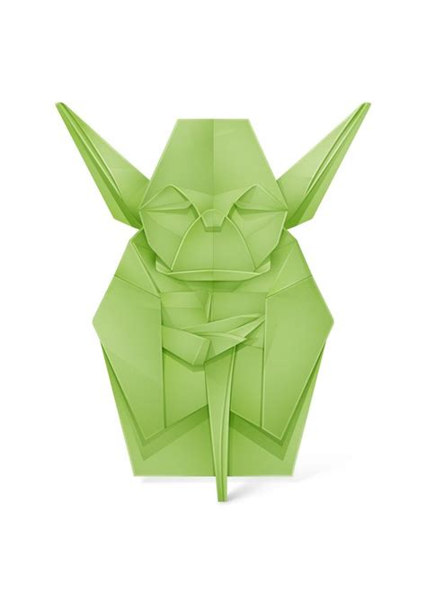 Yoda Origami - yoda there are many types of origami artwork for exle