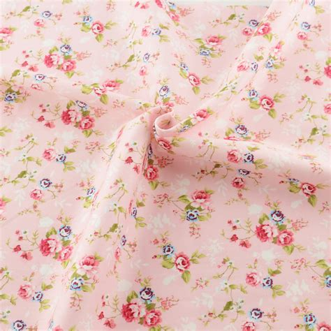 pink pattern cotton fabric new pink printed floral patterns 50cmx160cm piece cotton
