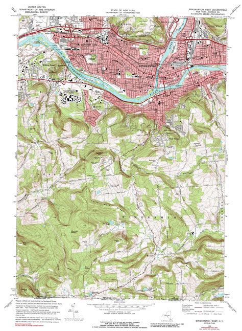 binghamton map binghamton west topographic map ny usgs topo 42075a8