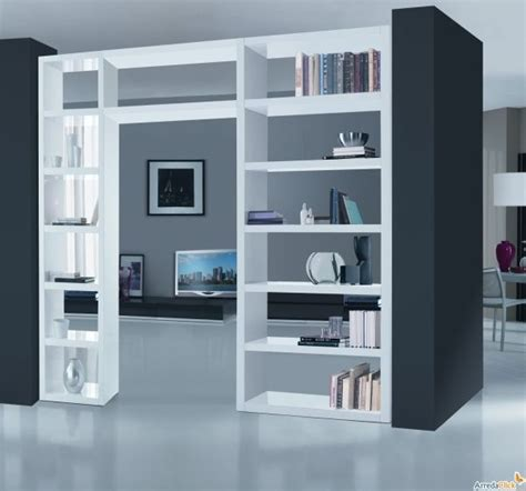 libreria divisoria in cartongesso libreria passante dividere un ambiente senza muri