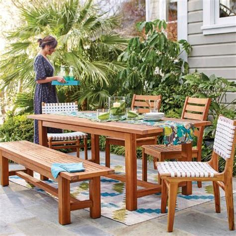 market outdoor table wood praiano outdoor dining table market