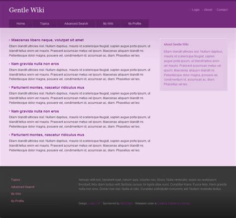 wiki template free css template gentle wiki 183 solucija