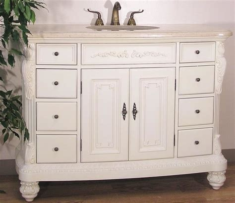 Bathroom Vanities 48 Inches Wide by 48 Inch Wide Vanity And Sink In White Finish Carved