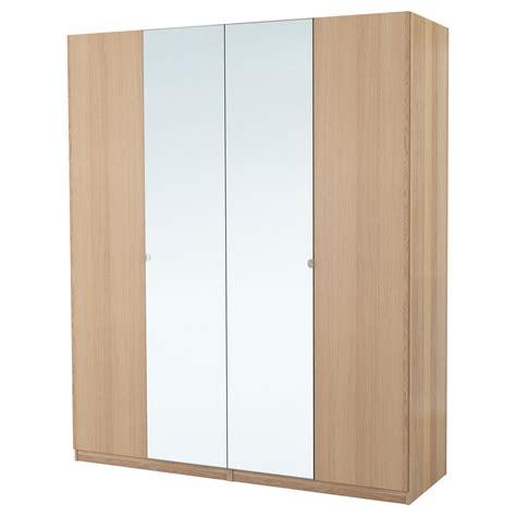 pax wardrobe white stained oak effect nexus vikedal