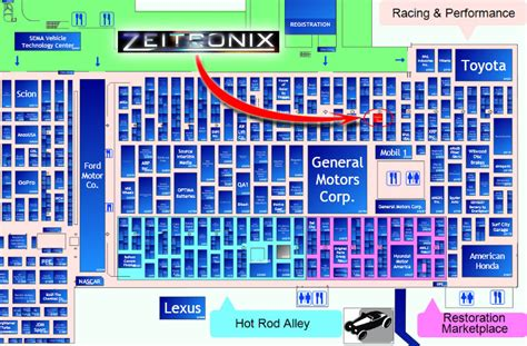 sema show floor plan visit zeitronix at the 2012 sema show