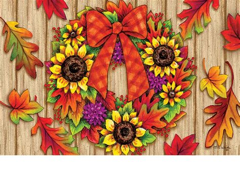 Outdoor Fall Doormats Indoor Outdoor Fall Adirondack Insert Doormat 18x30