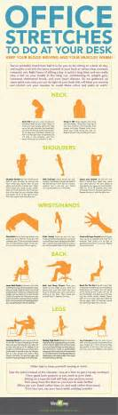 Exercises To Do At Desk by Office Stretches To Do At Your Desk Infographic Best