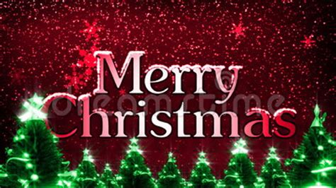 merry christmas  snowflakes animation loop stock footage video  cold title