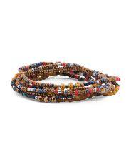 Delona Blouse 1 7 row stretch bracelet set