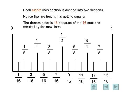 printable ruler divided into eighths reading ruler1