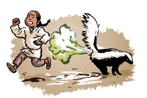 got sprayed by a skunk small number counts to 100 math catcher