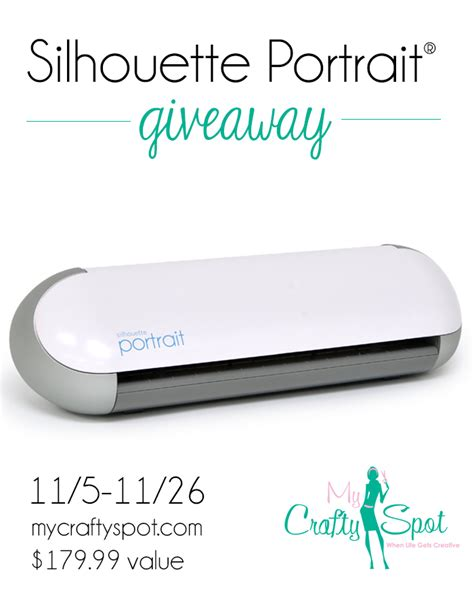 silhouette portrait giveaway my crafty spot when life gets creative - Silhouette Portrait Giveaway