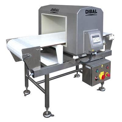 detectores de metales  banda de transporte dibal md  industria alimentaria detectores