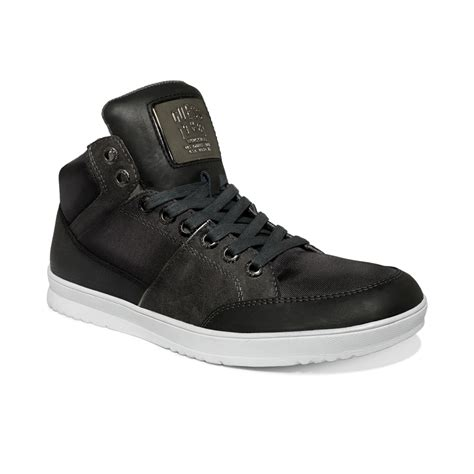 guess sneakers mens guess s shoes thyme hi top sneakers in black for