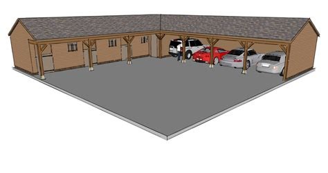 Garage L l shaped garage scheme the stable company