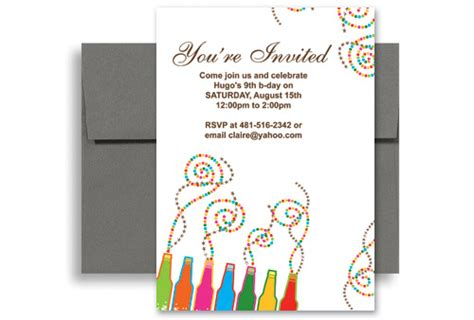 design your own birthday card template create your own printable birthday invitation 5x7 in