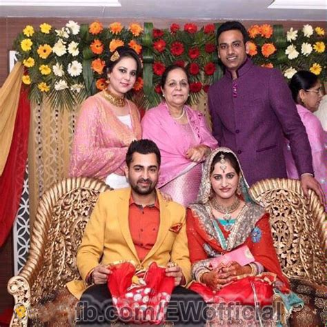 jassi gill wife amrinder gill marriage photos with his wife www pixshark