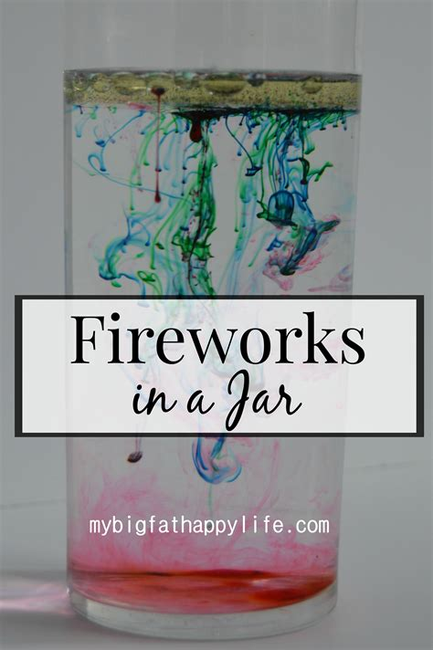 what is a jar fireworks in a jar my big happy