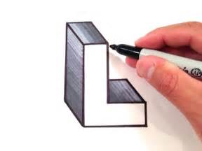 how to draw the letter l in 3d