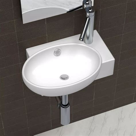 Sink Or Basin by Ceramic Sink Basin Faucet Overflow Bathroom White