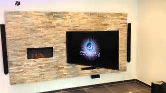 Wohnzimmer Ideen Tv Wand Stein Tv Wand Design By Miti Youtube