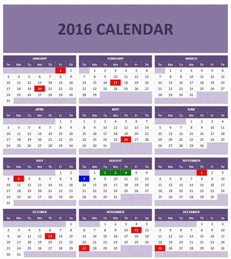 Office 2016 Calendar 2016 Calendar Templates Microsoft And Open Office Templates
