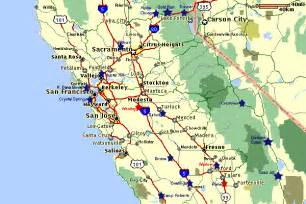 mid california map california map central