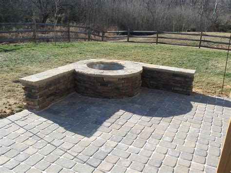 diy paver patio deck paver patio with firepit in by archadeck of garden
