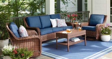 wicker outdoor furniture  home depot