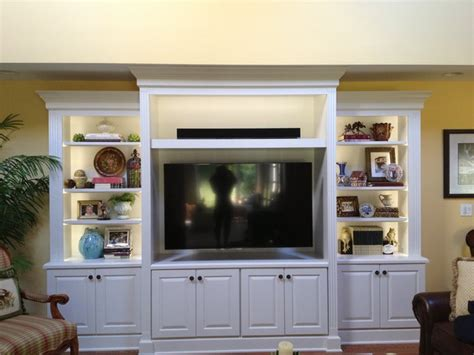 Home Decorators Lighting white entertainment center traditional family room